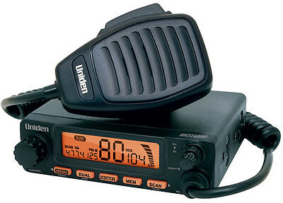 Uniden Uh7740Nb Compact Uhf Cb Radio 80 Channels 5 Watt Power Rrp$299.95