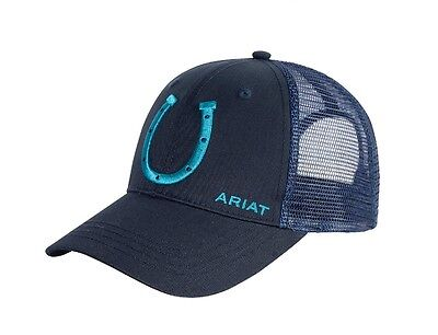 ARIAT - Truckers Cap - Navy / Turquoise - ( 4-362 NAVY/TURQ ) - New with Tags
