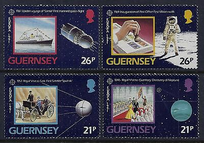 1991 Guernsey Europa: Space Exploration Set Of 4 Fine Mint Mnh/muh