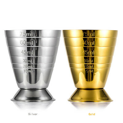 Steel Jigger Shot Shorts Drink Spirit Measure Cup Cocktail Measure with Scale