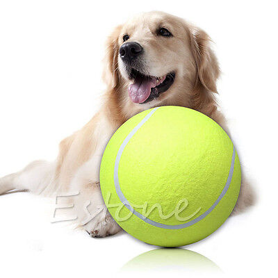 Big Giant Pet Dog Puppy Play Toy Tennis Ball Thrower Chucker Signature Ball 9.5""