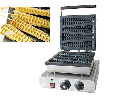 220V Non-Stick Electric Commercial Lolly Waffle Maker Machine 220V 4pcs/time