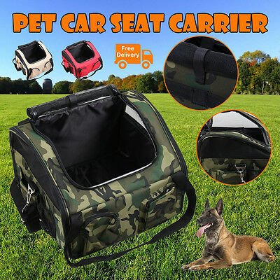 Pet Carrier Dog Cat Car Booster Seat Soft Crate Portable Cage Travel Folding OZ