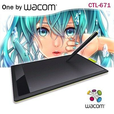 One by Wacom CTL-671 Bamboo Splash Pen Tablet Drawing Tablet for PC/MAC/WINDOWS