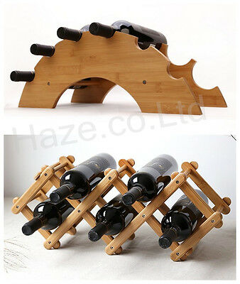 Fashionable and Simple Phyllostachys Wood Wine Rack