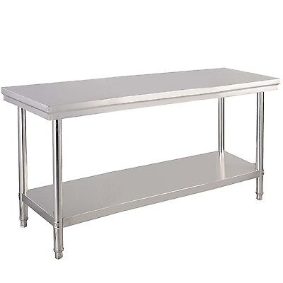 "Stainless Steel Commercial Kitchen Work Prep Table - 24"" x 48"" Pickup Only"