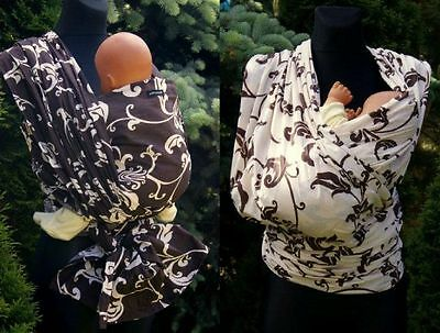 Leaves Ornament Original Baby Sling Woven 100% Cotton Wrap Pefect For Summer
