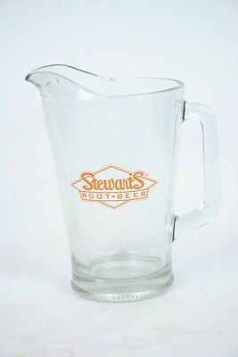 Stewart's Root Beer Large Glass Pitcher