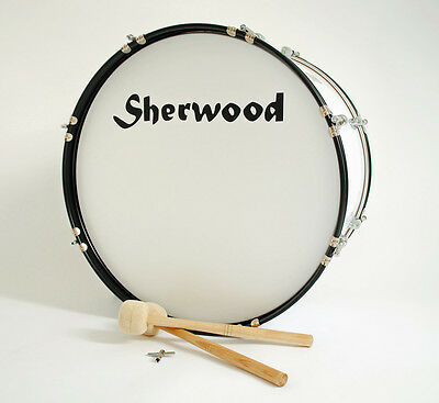 """56 cm (22"""") Marching Bass Drum with Carrying strap and accessories"""
