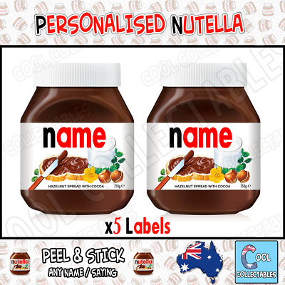 Nutella - Personalised Label - Make your own label - 750g- Post Out 24hr 50% Off