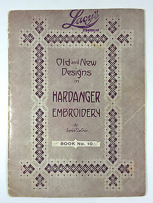 Vintage Old New Designs Hardanger Embroidery Pattern Book LaCroix No. 10