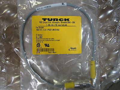 Turck RKV4T-0.4-PSGV3M/S1052 Cable Assembly ID U-14827 NEW!!! Free Shipping