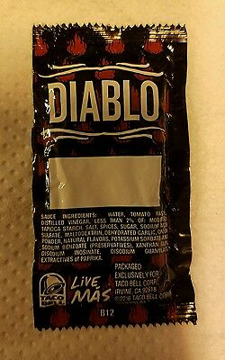 RARE!!! Taco Bell (BLANK/NO TEXT) Diablo Sauce Packet 2016 Edition