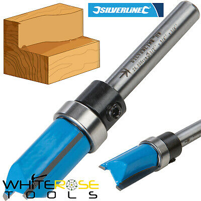 "Silverline 1/4"" Shank TCT Template Cutter Router Bit Twin Fluted Imperial Jig"