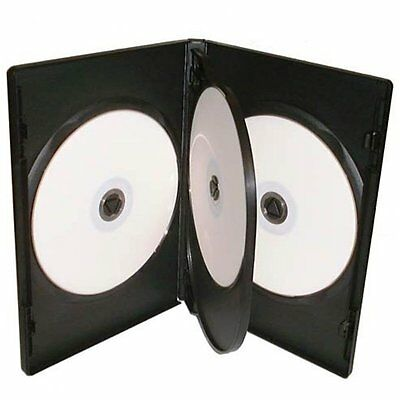 1 X 4-WAY NEW BLACK DVD CD DISC CASE 14mm SPINE REPLACEMENT SLEEVE NEW