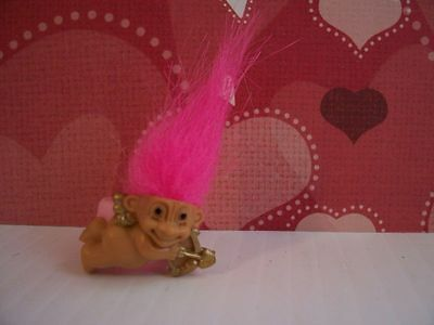 VALENTINE CUPID RING - Russ Troll Doll - NEW - Pink Hair