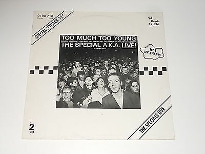 """The Special A.K.A. Live! feat. Rico - 12"""" EP - Too Much Too Young - Specials"""