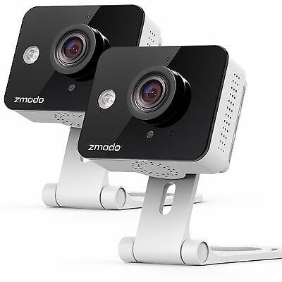 Zmodo 2 Pack WiFi HD Indoor Security Camera Night Vision Two-Way Audio