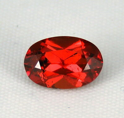 TOP SPESSARTINE : 1,98 Ct Natürlicher Orange Rot Spessartin / Spessartit Granat