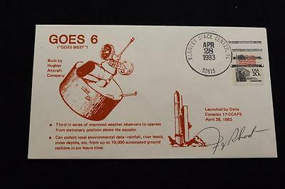 Space Cover 1983 Hand Cancel Goes-6 Improved Weather Observer Sat  Launch (1120)