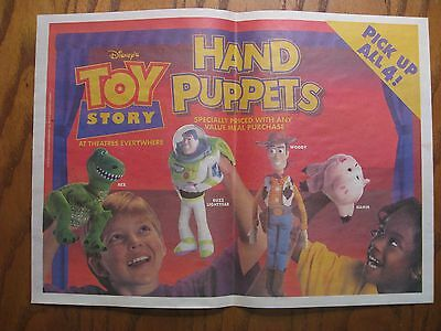 Burger King  Placemat Trayliner - Toy Story - 1995