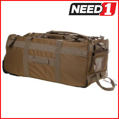 New HUMVEE Roller Deployment Bag  Steel Wheels, Weather Resistant Backpack
