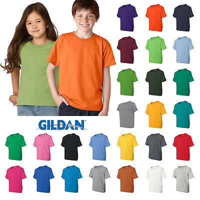 Gildan Boys Girls Youth DryBlend 50/50 T-Shirt Plain Basic Tee XS - XL  8000B