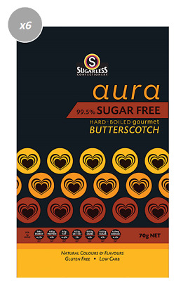 901877 4 x 70g BAGS OF HARD BOILED BUTTERSCOTCH - 99.5% SUGAR FREE, GLUTEN FREE