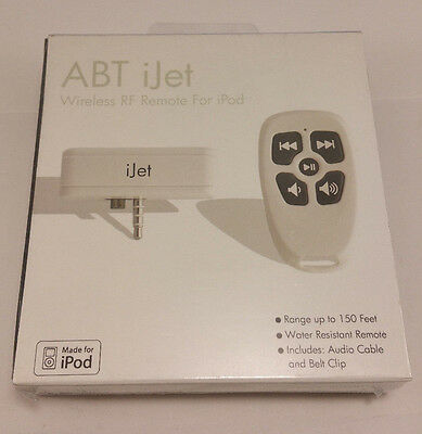 New ABT iJet Wireless RF Remote For iPod SEALED! FREE SHIPPING!
