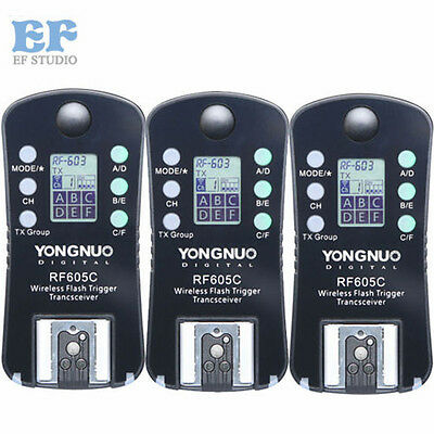 Yongnuo RF-605 Wireless Flash Trigger for Canon 60D 600D 7D 5D 5DII 5DIII RF-603
