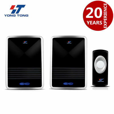 2 Plug-in Wireless Digital Receiver Doorbell Remote Control 25 Tune Chime Melody