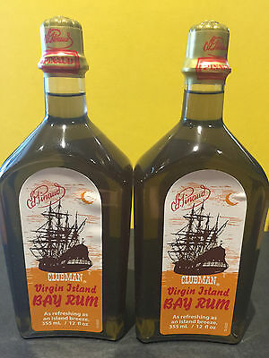 Pinaud Clubman VIRGIN ISLAND BAY RUM MEN'S AFTERSHAVE COLOGNE 2pcs on Sale