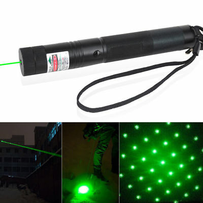 Military Powerful 532nm Green Laser Pointer Pen Visible Beam Light 10Miles