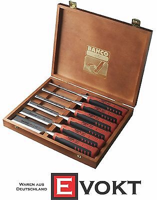 BAHCO Carving Chisel Set 6 Pcs. Wooden Box 424P-S6-GER Best Gift Genuine New