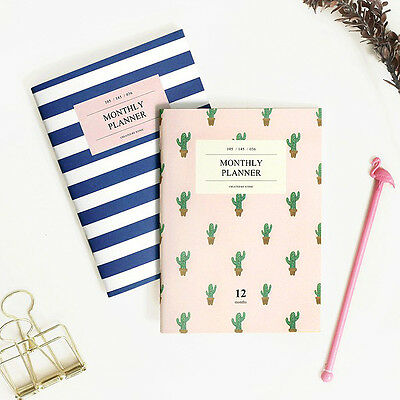 ICONIC A6 Cute Mini Monthly Planner Scheduler Journal Diary Notebook Paper
