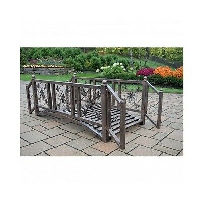Metal Garden Bridge Decorative Walkway Pond Landscape Outdoor Backyard  Decor Kit