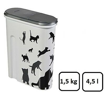 Curver Pet Dry Food Container Cat, 4.5 Litre #211156