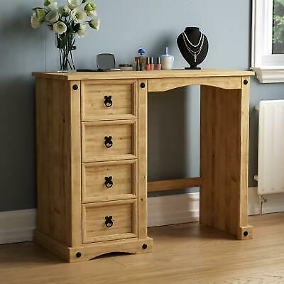 Corona 4 Drawer Dressing Table Desk Solid Mexican Waxed Pine By Home Discount