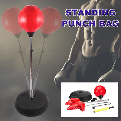 New Standing Punch Bag Boxing Gloves Speed Ball Speed Training Punching Stand