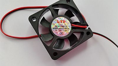 DC 12V 2P Brushless Axial Industrial Flow Cooling Fan 50mm 50x50x10mm 5010S