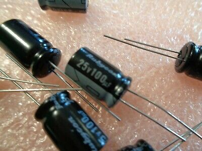 100uf 25V electrolytic radial Capacitor From Rubycon Quality made in Japan.