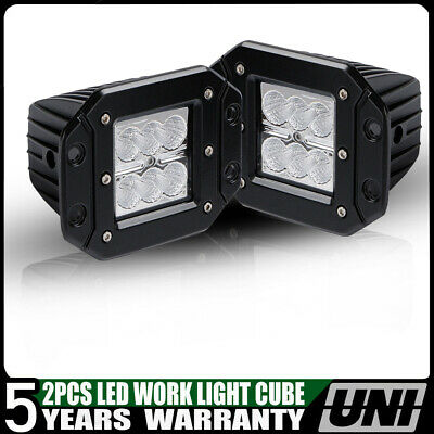2X 18W 3X3 Pods Spot Led Work Light Cube for Marine RZR Polaris JK Boat ATV UTE