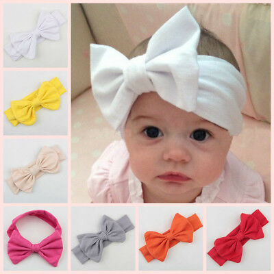 12 PCS Newborn Baby Toddler Girl Kid Bow Rabbit Flower Hair Band Turban Headband