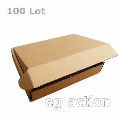 100 8x4x1⅛ Cardboard Packing Mailing Moving Shipping Boxes Corrugated Cartons