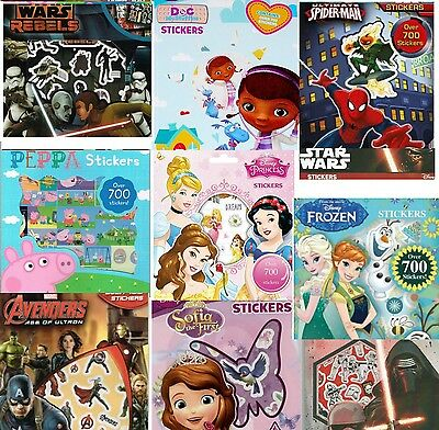 Childrens Stickers Kids Craft Characters Disney Star Wars Frozen 700 Bag Fillers