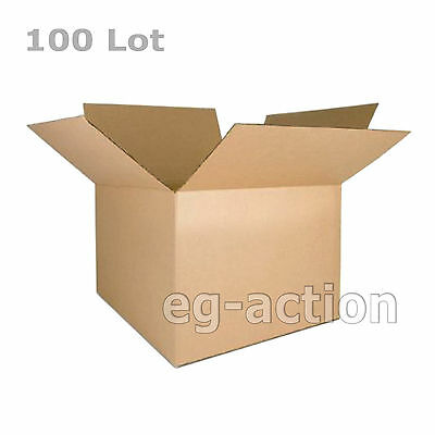 100 6x4x4 Cardboard Packing Mailing Moving Shipping Boxes Corrugated Cartons