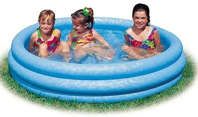 Intex large Inflatable Paddling Pool Three Chambers & Repair Kit (almost 4ft)
