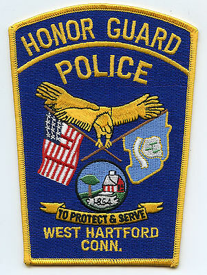 WEST HARTFORD CONNECTICUT CT Honor Guard POLICE PATCH