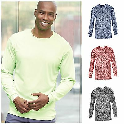4f287d85645 Mens Dri-Core Long Sleeve T-Shirt Athletic Badger Sportswear Tech Tee All  Col