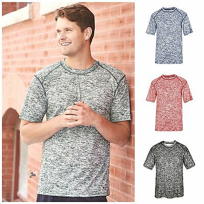Men's Dri Core Blended Short Sleeve T-Shirt Athletic Badger Sportswear Tech Tee